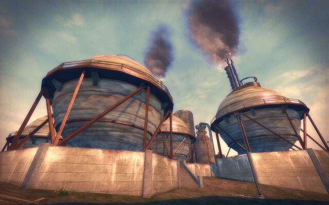 File:Pilsen in Saints Row 2 - refinery spheres.jpg