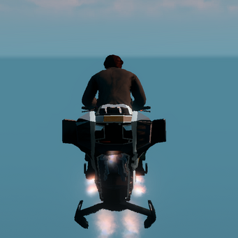 Saints Row The Third DLC vehicle - Ultor Interceptor - hover - rear