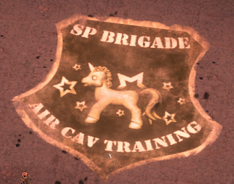 SP Brigade - Air Cav Training unicorn logo in-game