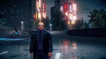Benjamin King with Super Powers as a Homie in Saints Row IV