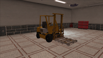 Saints Row variants - Forklift - industrial with pallet - front right