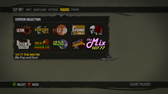Saints Row 2 Radio Station description - 107.77 The Mix FM