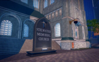 Saints Row Church - exterior sign