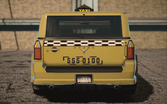 Saints Row IV variants - Kayak Taxi BW - rear