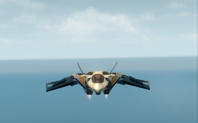 File:F-69 VTOL - hover mode - front in Saints Row The Third.png