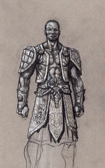 Johnny Gat Concept Art - Gat out of Hell Barbarian look - short hair with open vest