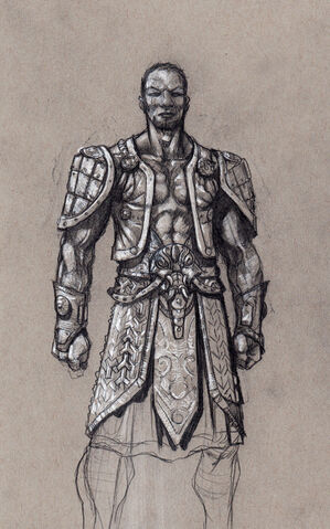File:Johnny Gat Concept Art - Gat out of Hell Barbarian look - short hair with open vest.jpg