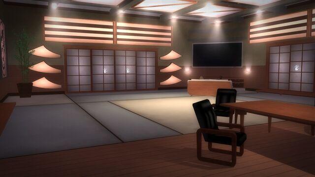 File:Tohoku Towers - room with doors and TV.jpg