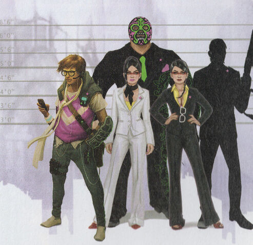 File:Matt Miller, Viola DeWynter, Kiki DeWynter, and Killbane scan from the Game Guide.jpg