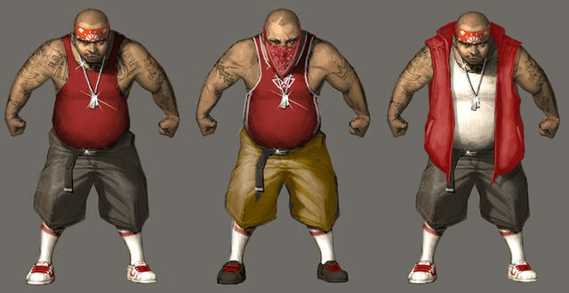 File:Los Carnales Concept Art - three versions.jpg