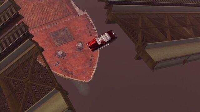 File:House Call - Angelo's Gunslinger falling off raised bridge.jpg