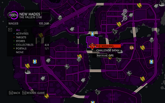 Gat out of Hell - The Wedding marker on Map