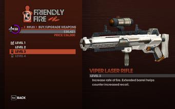 Viper Laser Rifle - Level 3 description