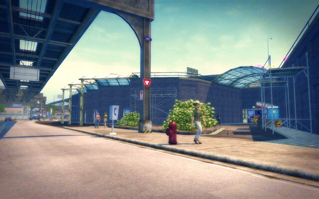 File:Prawn Court in Saints Row 2 - Transportation Center.jpg