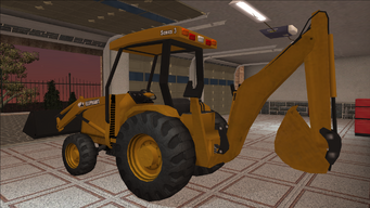 Saints Row variants - Backhoe - rear left
