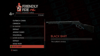 Weapon - Special - Sniper Rifle - Lever-Action - Black Bart