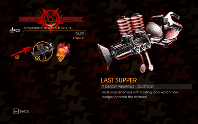Gat out of Hell - 7 Deadly Weapons - Gluttony