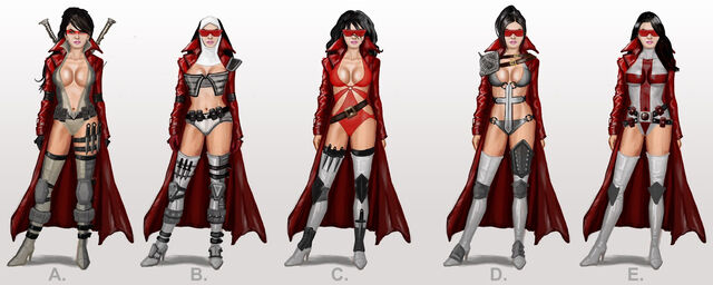 File:Bloody Canoness concept art - 5 outfits.jpg