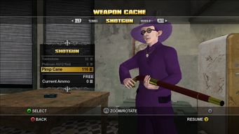 Saints Row Weapon Cache - Shotgun - Pimp Cane