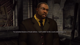 Benjamin King in the Saints Row Church in All the King's Men