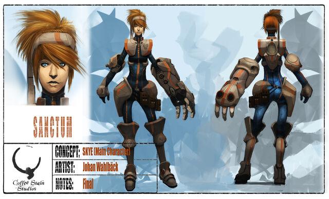 File:Sanctum Main Character Skye by Colorbind.jpg