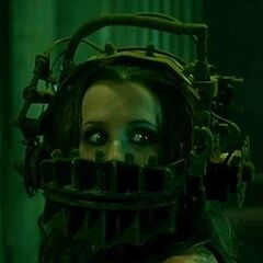 Amanda Young in the reverse bear trap