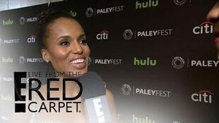 """Scandal"" Cast Talks Hillary Clinton's Set Visit Live from the Red Carpet E! News"