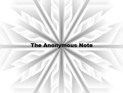 The Anonymous Note