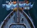 Ghost ship crashes into the gang's dinghy.png