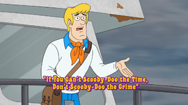 If You Can't Scooby-Doo the Time, Don't Scooby-Doo the Crime title card