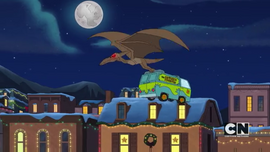 Pterodactyl carries Mystery Machine (Scary Christmas)