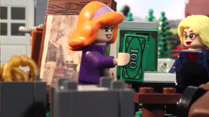 LEGO Daphne buys tag-sale picture