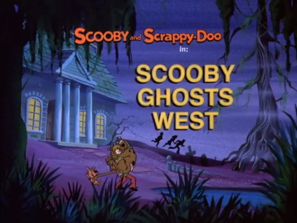Scooby Ghosts West title card