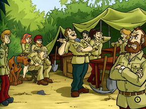 Archaeologists' camp (Jungle Jeopardy)