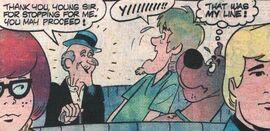 Barnaby Slocum appears in van