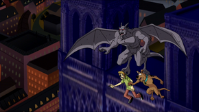 Gargoyle takes Shag and Scoob on Paris flight
