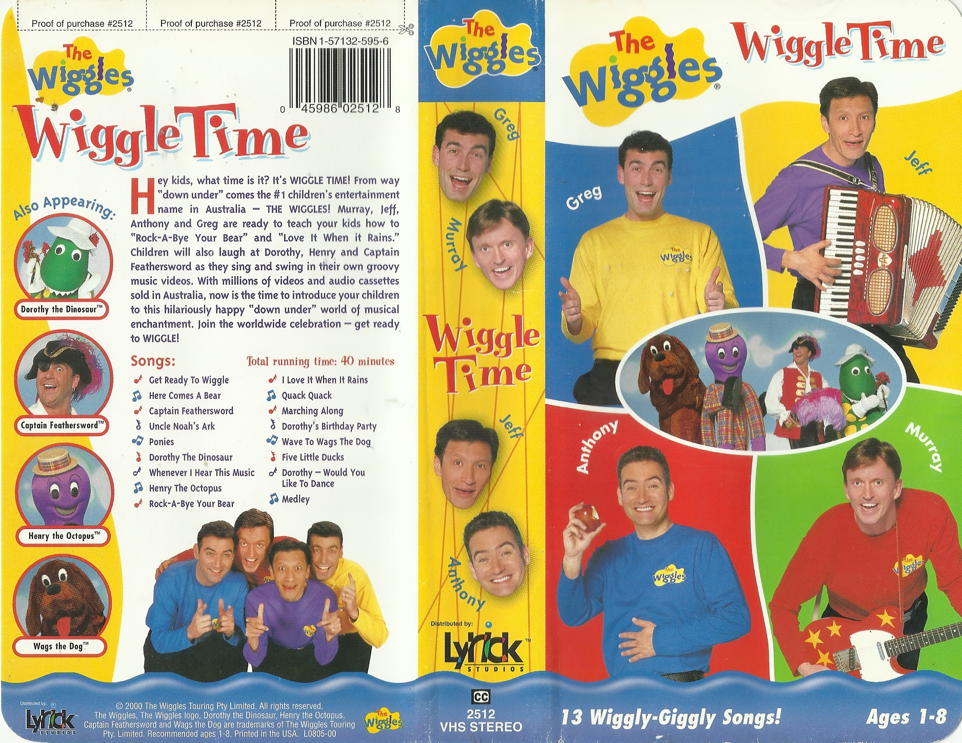 Opening To The Wiggles: Wiggle Time 1998 VHS (Disney