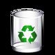 Crystal Clear filesystem trashcan empty