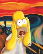 Homer as The Scream