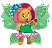 Tessie bear as a fairy
