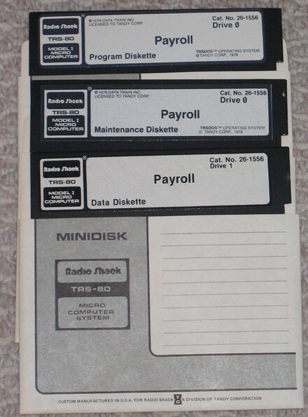 26-1556 payroll diskettes
