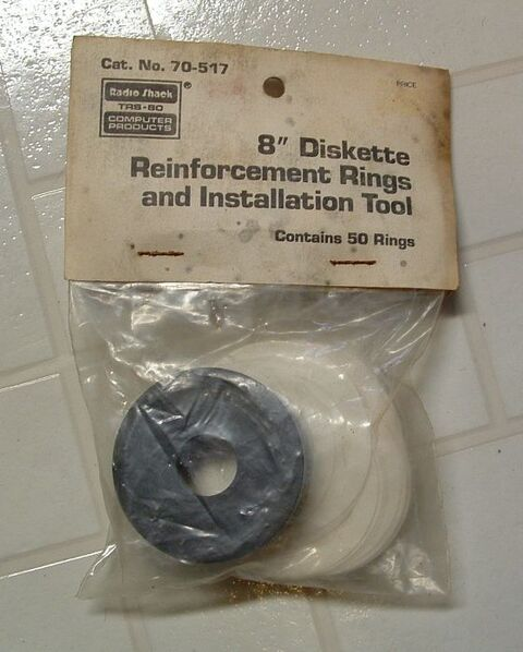 70-517 8-inch Diskette Reinforcement Rings and Installation Tool