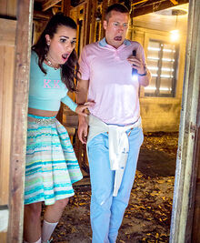 Lea-Michele-Glen-Powell-Scream-Queens-467