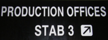 Stab 3 office sign