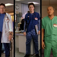 Dr. Cox, J.D., and Turk are mad