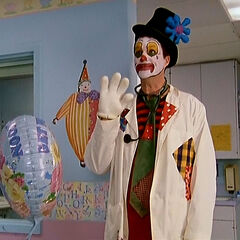 ...Janitor as a clown...