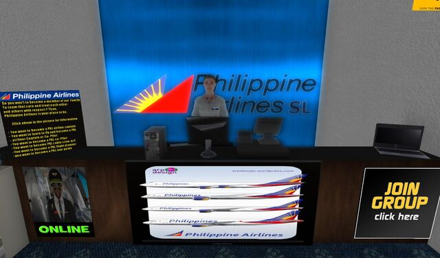 File:Philippine Airlines check-in and info booth at SLGR 02 001.jpg
