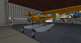 PA-18 Super Cub (Laminar) yellow with floats