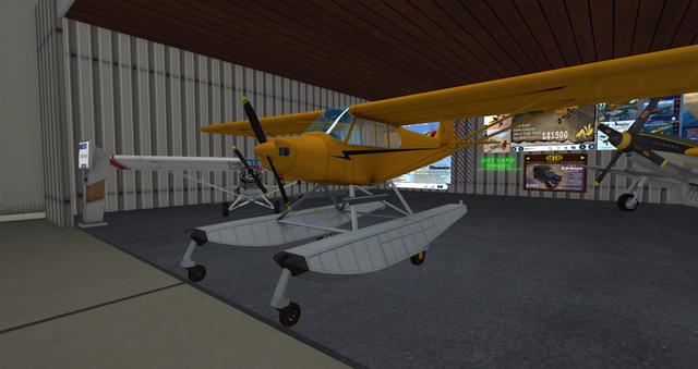 File:PA-18 Super Cub (Laminar) yellow with floats.png