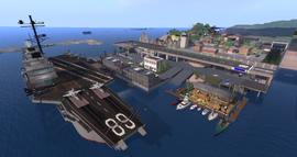 USS Nimitz, looking SW (07-14)